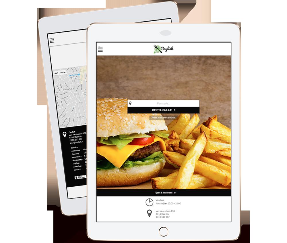 Online bestellen bij Daylish kan via smartphone, tablet en computer